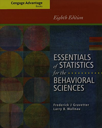 9781285481685: Bundle: Cengage Advantage Books: Essentials of Statistics for the Behavioral Sciences, 8th + Aplia™, 1 term Printed Access Card