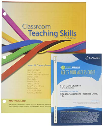 9781285482972: Bundle: Cengage Advantage Books: Classroom Teaching Skills, 10th + Education CourseMate with eBook Printed Access Card