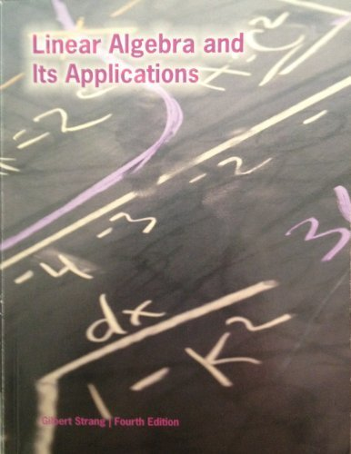9781285550756: Linear Algebra and Its Applications (4th Edition) [PAPERBACK]