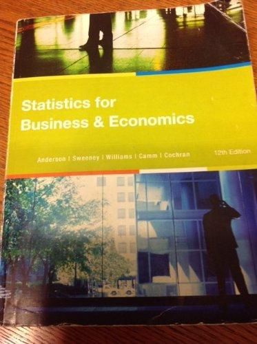 9781285556734: Statistics for Business & Economics 12th Edition