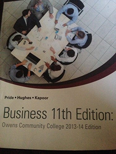 9781285557373: Business 11 Th Edition Owens Community College 2013 -14 Edition