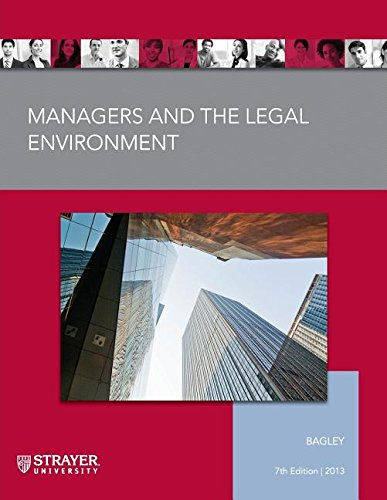 9781285559667: Managers and The Legal Environment (Strayer University)