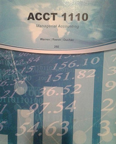 9781285561745: Acct 1110 Managerial Accounting