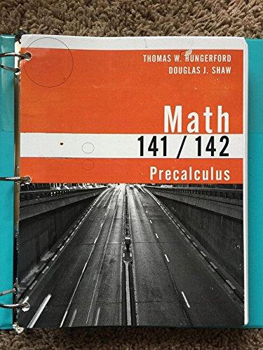 9781285562278: Math 141/142, Precalculus 5e (loose leaf), Thomas W. Hungerford/Douglas J. Shaw