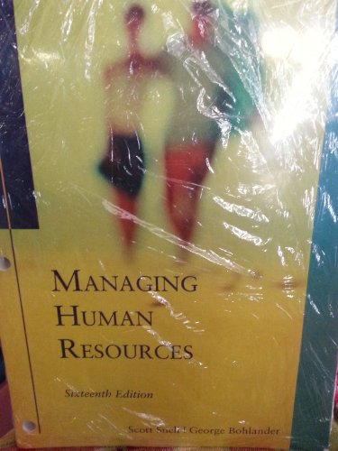 9781285563350: Managing Human Resources 16TH EDITION WITH CourseMate with Career Transitions 2.0 Printed Access Card