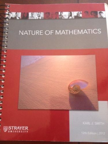 9781285563947: Nature of Mathematics