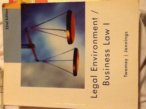 9781285564197: LEGAL ENVIRON./BUSINESS LAW I >CUSTOM<