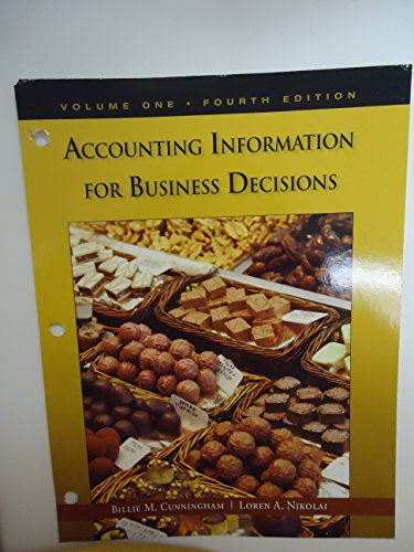 9781285564463: Accounting Information for Business Decisions-Volume 1