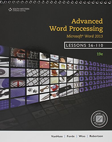 9781285576282: Bundle: Advanced Word Processing, Lessons 56-110: Microsoft Word, 19th + Keyboarding Pro Delux Online Lessons 56-110 Printed Access Card