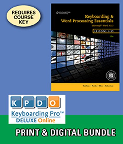 9781285576329: Bundle: Keyboarding and Word Processing Essentials, Lessons 1-55, 19th +Keyboarding Pro DELUXE Online Lessons 1-55, 1 term (6 month) Printed Access Card