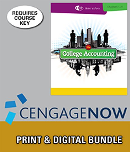 9781285576459: Bundle: College Accounting, Chapters 1-27, 21st + CengageNOW, 2 terms Access Code