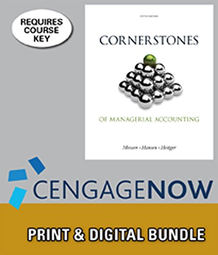 9781285579252: Bundle: Cornerstones of Managerial Accounting, 5th + CengageNOW™, 1 term Printed Access Card