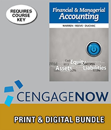 9781285584553: Bundle: Financial & Managerial Accounting, 12th + CengageNOW™, 2 terms Access Code