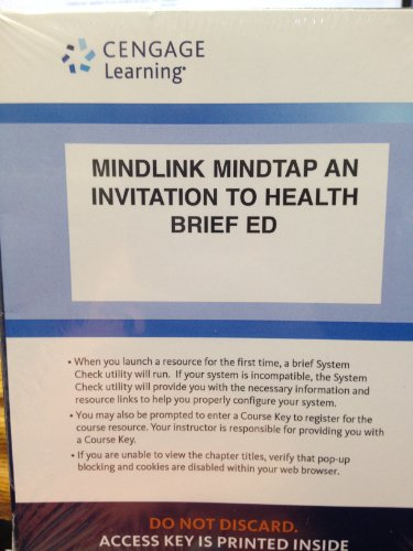 9781285591599: Access Code for MINDLINK MINDTAP: AN INVITATION TO HEALTH BRIEF ED.