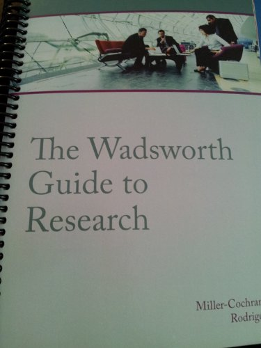 9781285622859: The Wadsworth Guide to Research