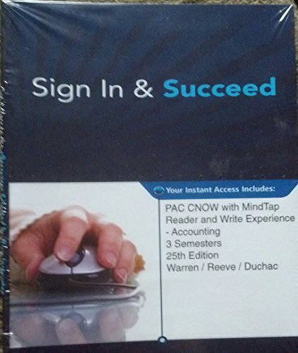9781285623504: PAC CNOw w/MindTap Accounting-3 Semesters Access Code