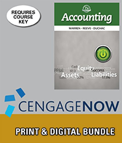 9781285717036: Bundle: Accounting, Loose-Leaf Version, 25th + CengageNOW™, 2 term Printed Access Card