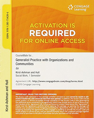 9781285734286: Generalist Practice with organizations and communities