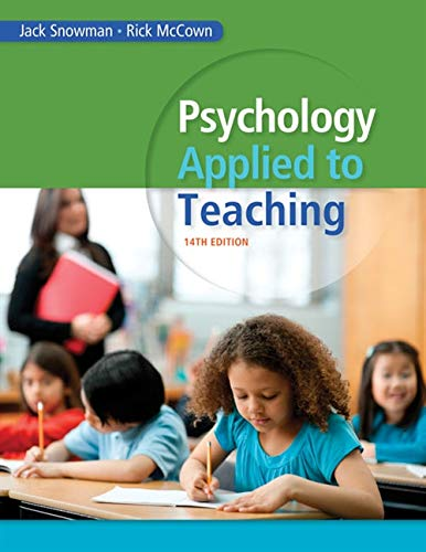 Psychology Applied to Teaching: McCown, Rick, Snowman,