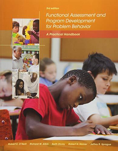 Functional Assessment and Program Development for Problem: Sprague, Jeffrey R.,