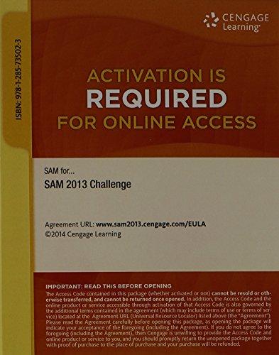9781285735023: SAM 2013 Challenge Printed Access Card