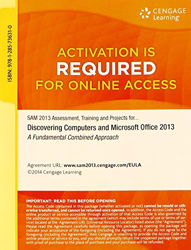 9781285736310: SAM 2013 Assessment, Training and Projects with MindTap Reader for Discovering Computers & Microsoft Office 2013: A Fundamental Combined Approach Printed Access Card