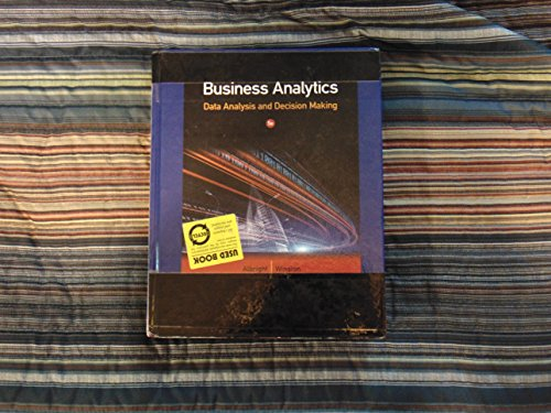 9781285736693: Business Analytics 5th.ed. Hardcover Instructor's Edition