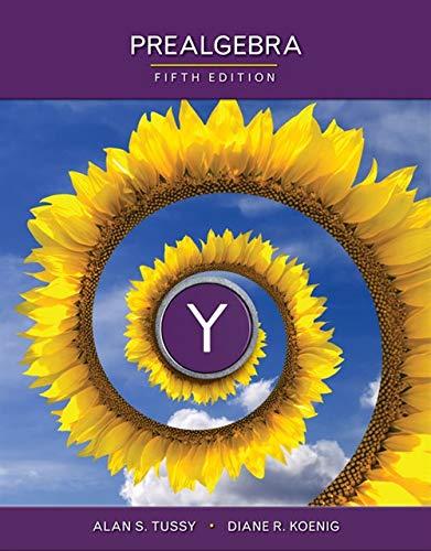 Prealgebra: Tussy, Alan S.;
