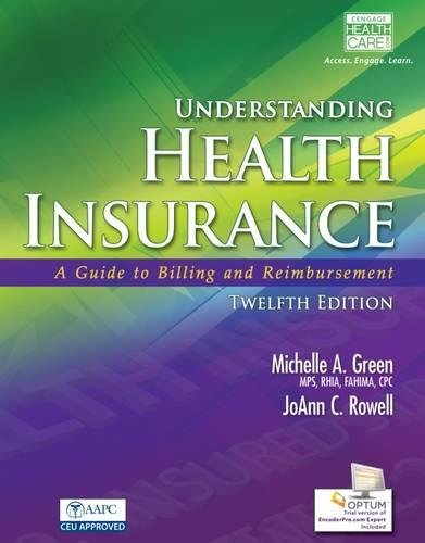 9781285737676: Workbook for Understanding Health Insurance (Book Only)