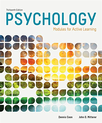 9781285739281: Psychology: Modules for Active Learning