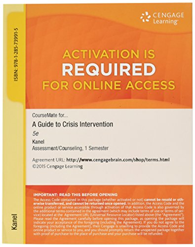 CourseMate Online Study Tool Access to Accompany Kanel's A Guide to Crisis Intervention [Web ...