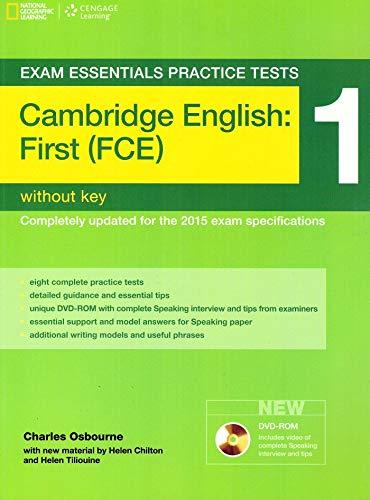 9781285744940: Exam Essentials: Cambridge First Practice Tests 1 w/o key + DVD-ROM