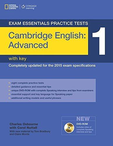 9781285744971: Exam Essentials: Cambridge Advanced Practice Tests 1 W/Key + DVD-ROM [Lingua inglese]: Practice Tests 1 - Practice Tests with Key and DVD-ROM: Vol. 1