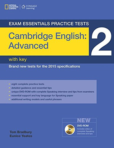 9781285745077: Exam Essentials: Cambridge Advanced Practice Tests 2 W/Key + DVD-ROM