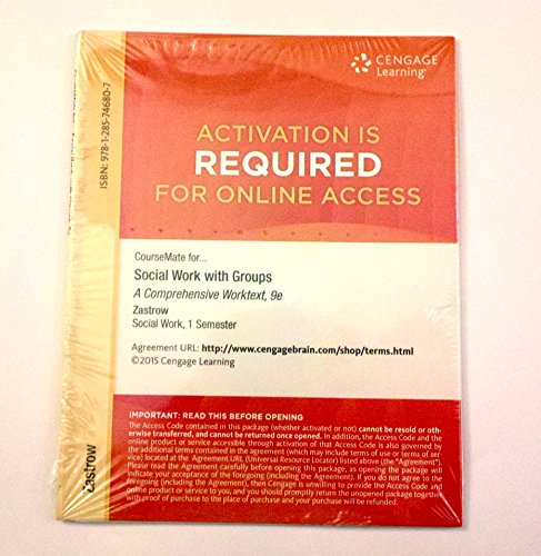 CourseMate for Zastrow's Brooks/Cole Empowerment Series: Social Work with Groups Workbook...
