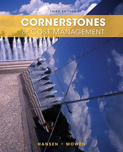 9781285751788: Cornerstones of Cost Management