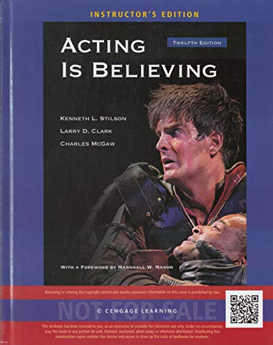 9781285760766: Acting Is Believing: 12th Edition Instructors Edition