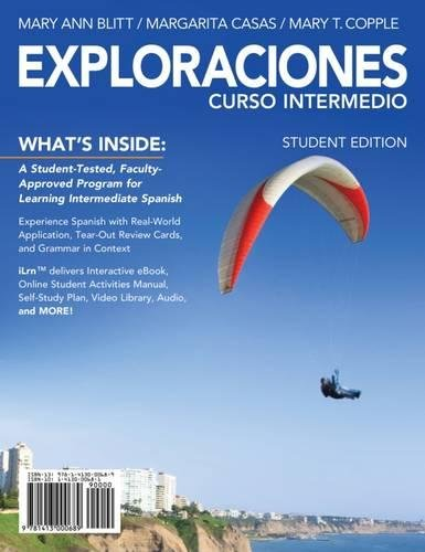 9781285772516: Exploraciones curso intermedio (with iLrn Printed Access Card and Student Activities Manual)