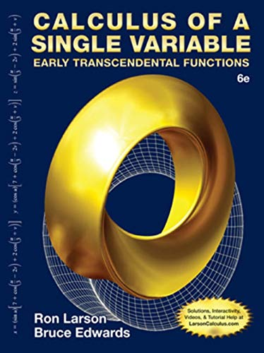 9781285774794: Calculus of a Single Variable: Early Transcendental Functions