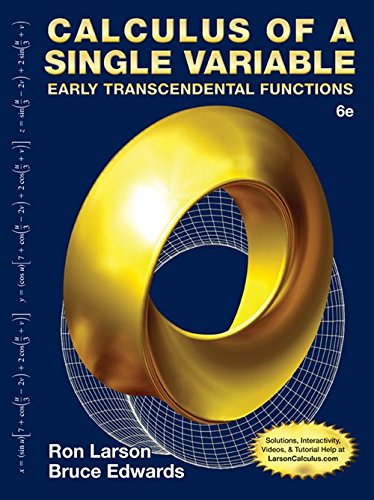 9781285774800: Student Solutions Manual for Larson/Edwards' Calculus of a Single Variable: Early Transcendental Functions, 6th