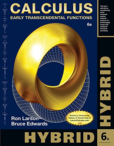 9781285777023: Calculus, Hybrid: Early Transcendental Functions (with Enhanced WebAssign Homework and eBook LOE Printed Access Card for Multi Term Math and Science)
