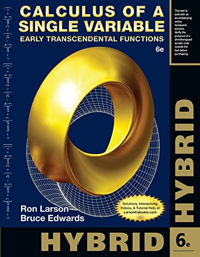 9781285777054: Calculus of a Single Variable, Hybrid: Early Transcendental Functions (with Enhanced WebAssign Homework and eBook LOE Printed Access Card for Multi Term Math and Science)