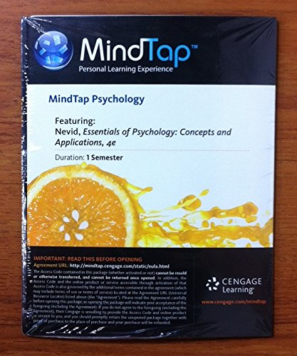 9781285778792: MindTap Access Code for Essentials of Psychology 4th Edition (1-semester)