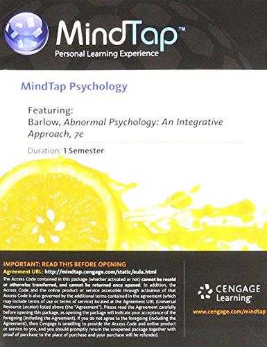 9781285778846: Abnormal Psychology: An Integrative Approach (MindTap Psychology Access Card)