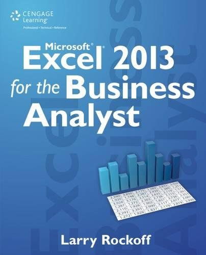 9781285778884: Microsoft Excel 2013 for the Business Analyst