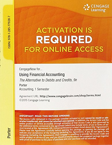 9781285779287: Aplia for Using Financial Accounting: The Alternative to Debits and Credits