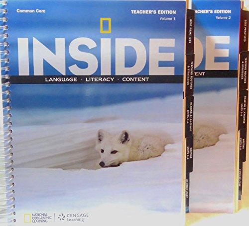 9781285806839: INSIDE Language Literacy Content - Teacher's Edition (Level A - Volume 1 & Volume 2)