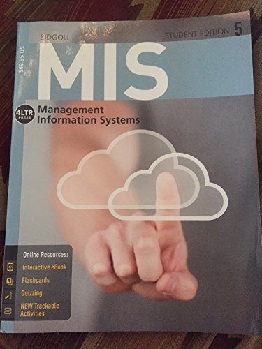 9781285836461: MIS Management Information Systems 5