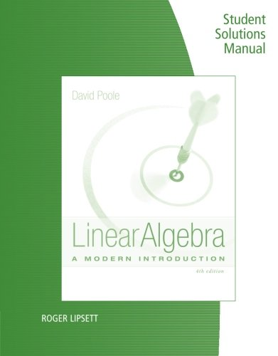 Linear Algebra A Modern Introduction David Poole Pdf