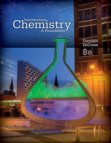 9781285845180: Student Solutions Manual for Zumdahl/DeCoste's Introductory Chemistry: A Foundation, 8th